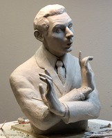 Portrait sculpture of Danny Kaye ©Lori Kiplinger Pandy