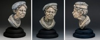 """Eleanor"" portrait sculpture ©Lori Kiplinger Pandy"