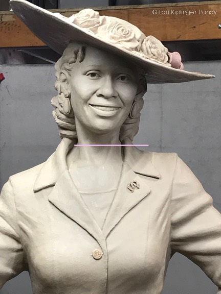 Photo of Fannie Mae Duncan Hat in clay ©Lori Kiplinger Pandy
