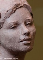 anatomy in sculpting clay figure for bronze ©Lori Kiplnger Pandy