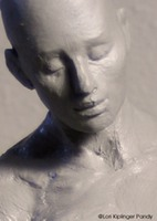 ©Lori Kiplinger Pandy sculpture in progress depicting the emotion of 'loss' - bereavement grief art