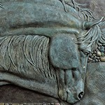 Necking ©Lori Kiplinger Pandy sculpture two horses
